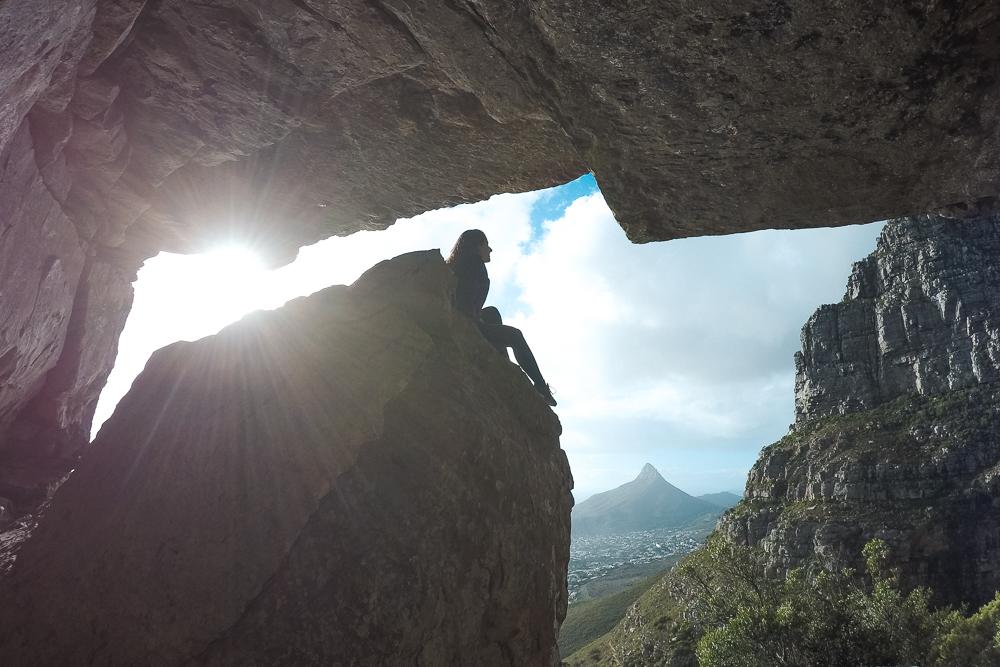 trilha na Table Mountain