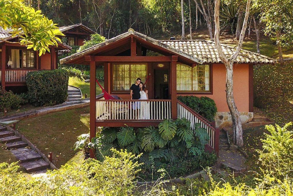 Chalé da pousada Les Roches em Itaipava