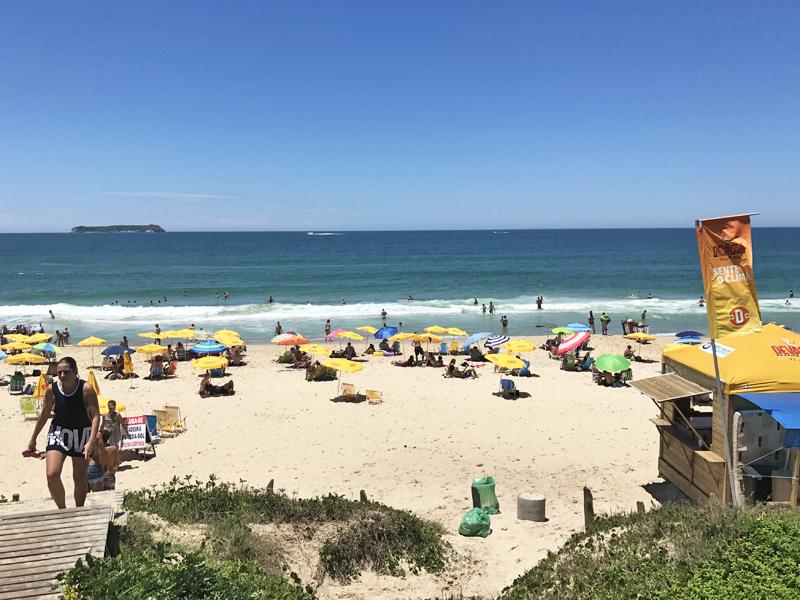 Vista da Praia Mole em Florianópolis