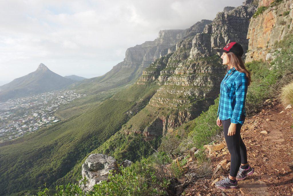 trilhas em Table Mountain