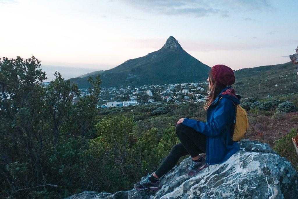 trilha em Table Mountain