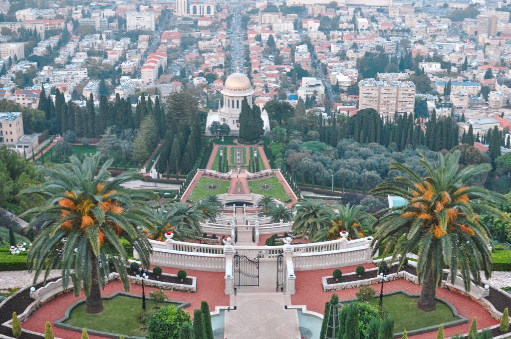 costa mediterrânea israel Jardim de Bahá'í