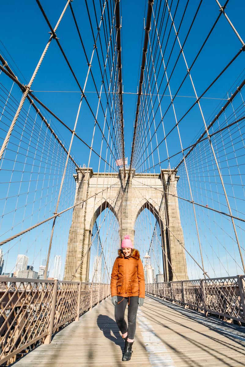 Brooklyn Bridge vazia às 7h da manhã