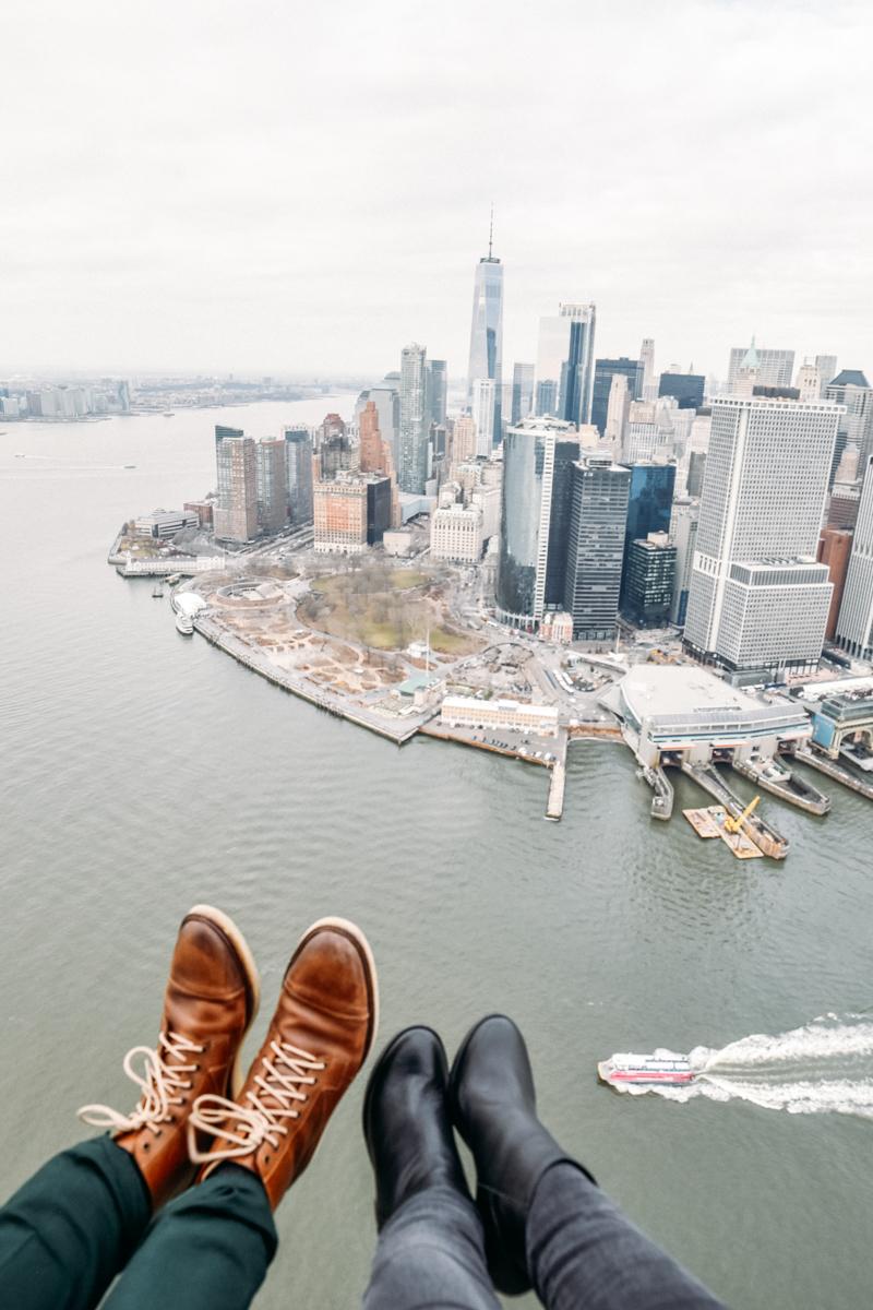 Sobrevoando Nova York de helicóptero