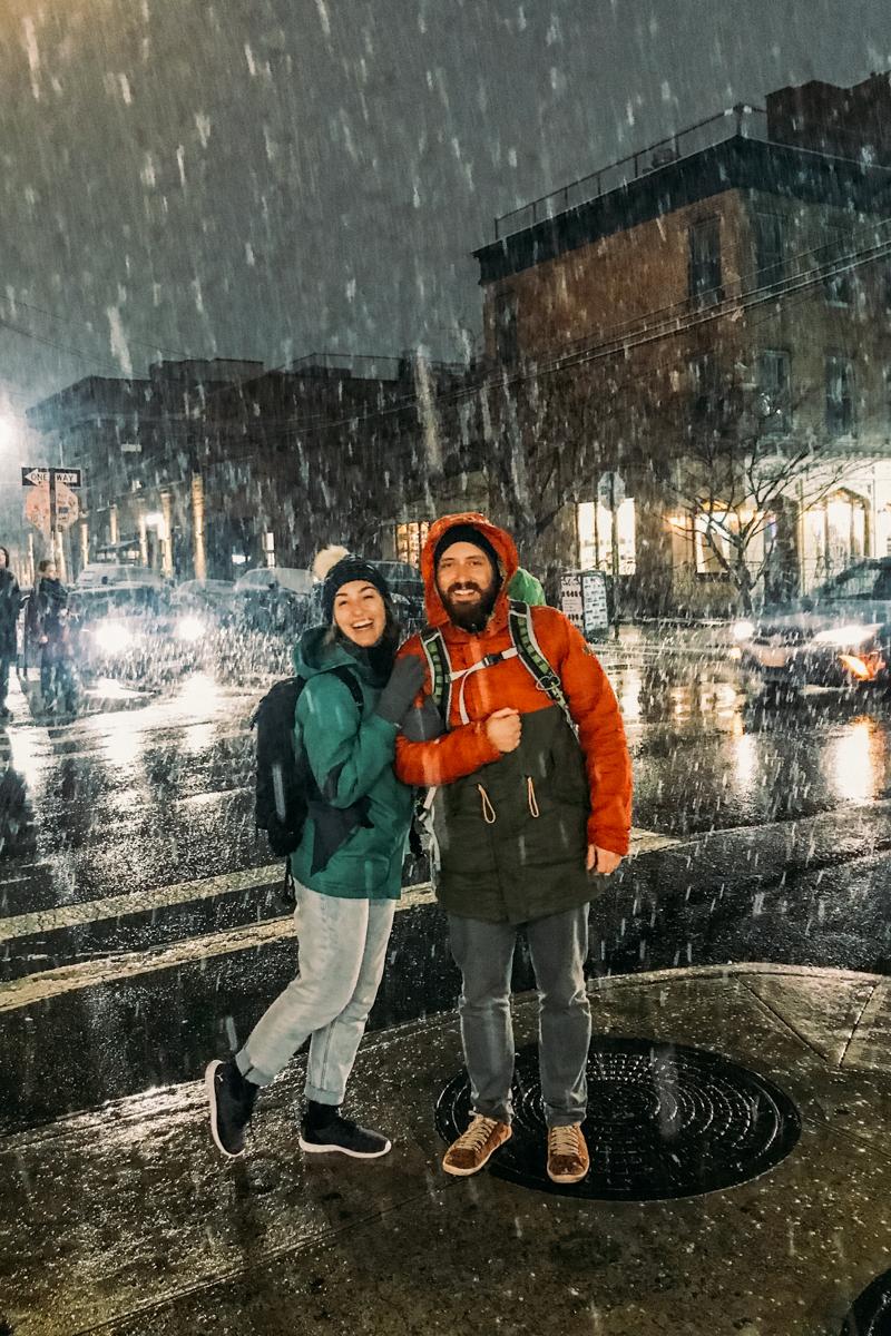 Nevando em Nova York