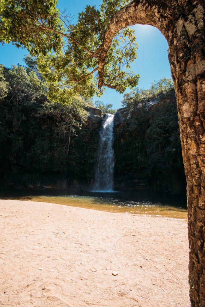 Queda d'água da Cachoeira do Abade em Pirenópolis