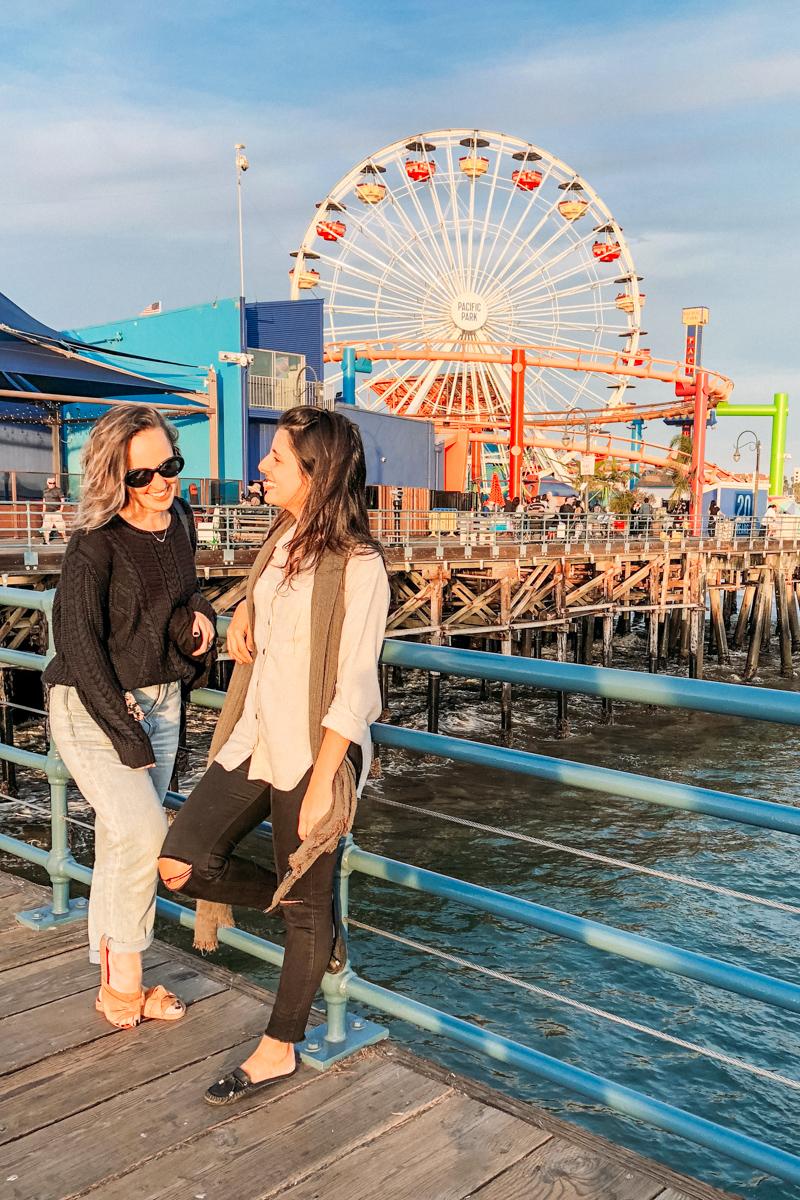 amigas no Pier de Santa Monica