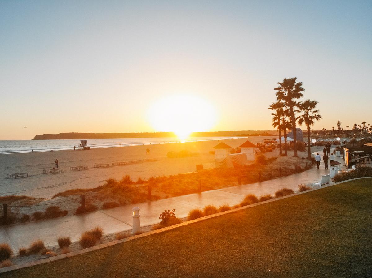 Por do sol em Coronado Beach