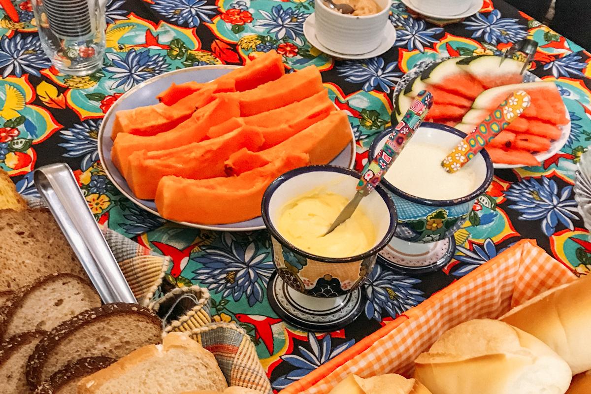 Café da manhã no Solar do Cosme