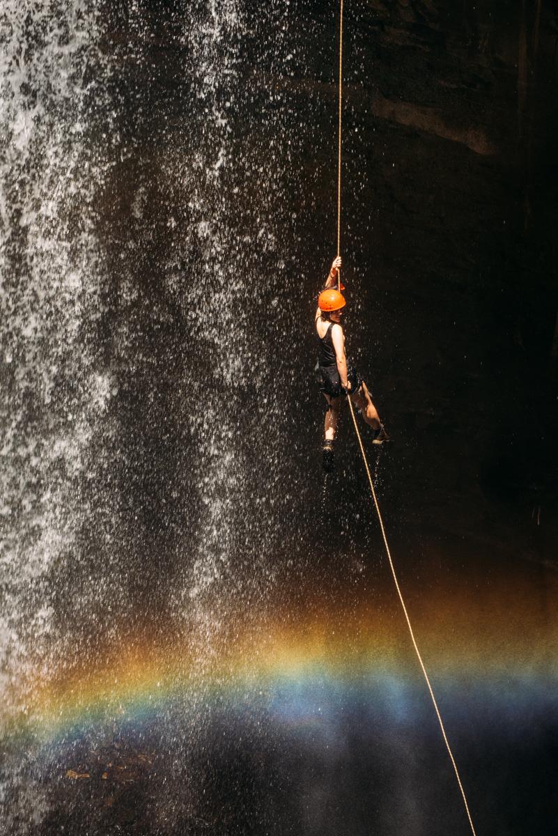 Rapel na Cachoeira do Funil