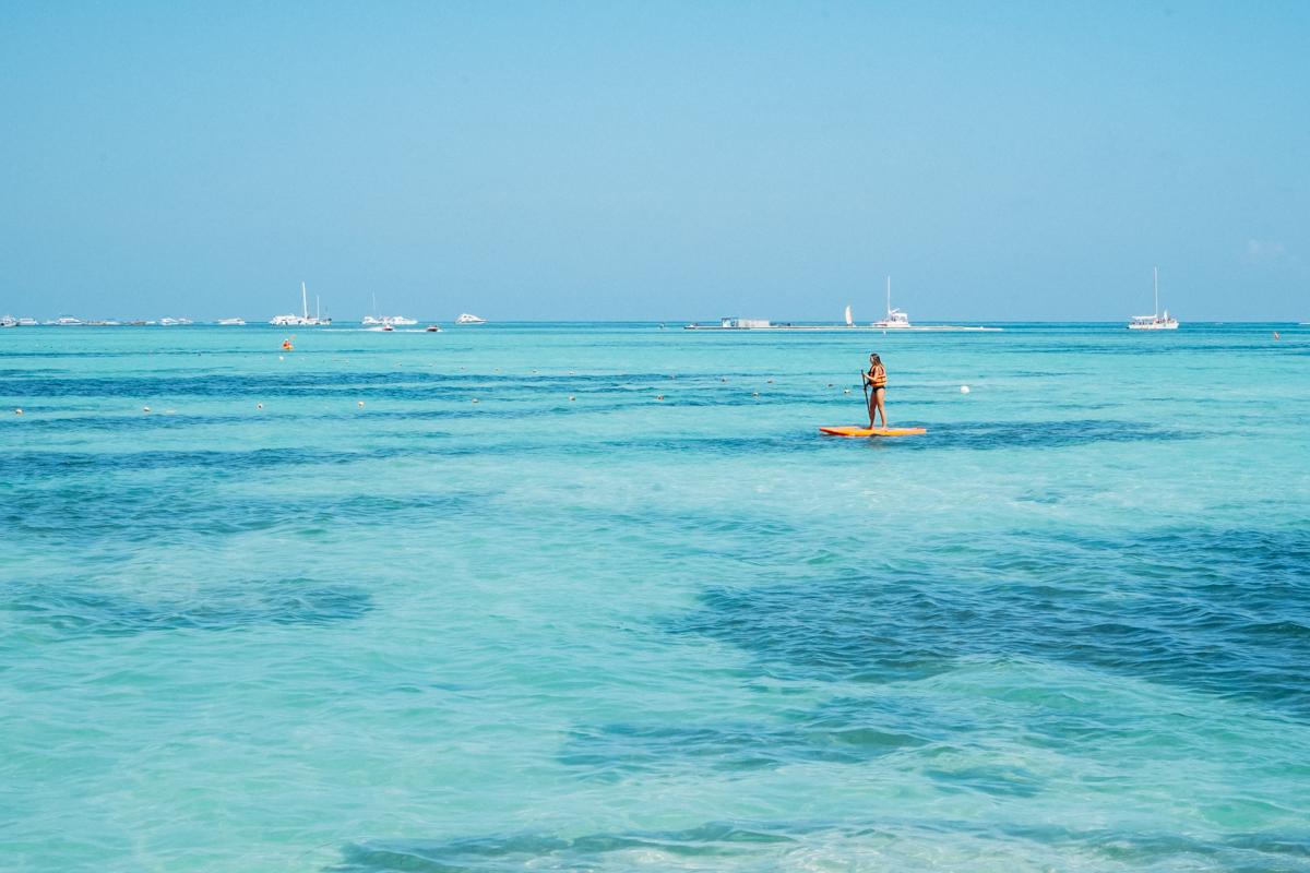 Mar azul de Punta Cana