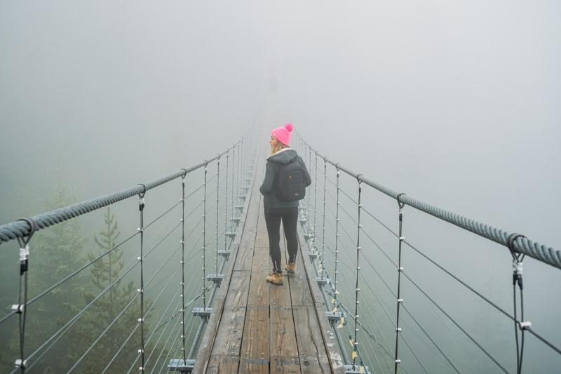 Ponte suspensa em Squamish