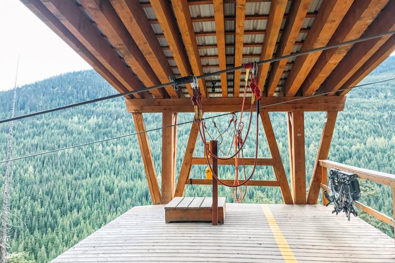 tirolesa de 2km em Whistler, no Canadá