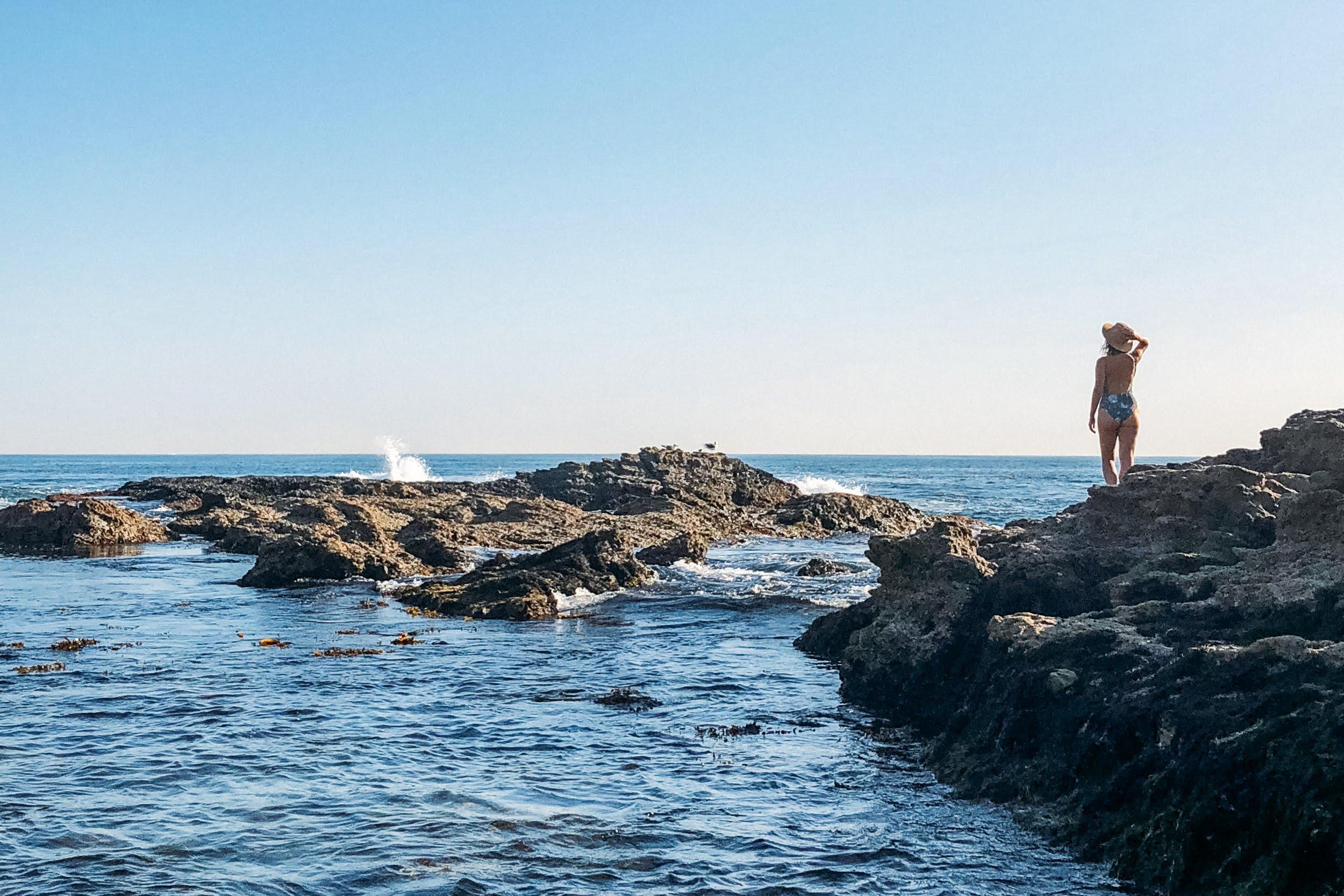 Praias de laguna beach na califórnia