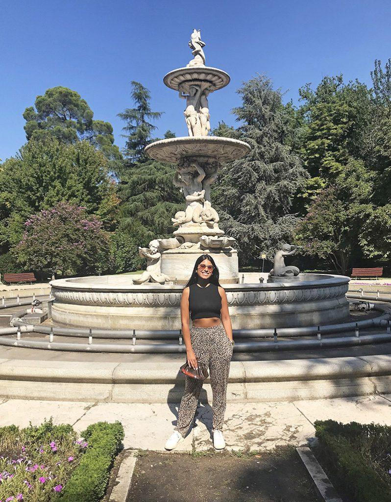 Chafariz no Campo del Moro em Madrid