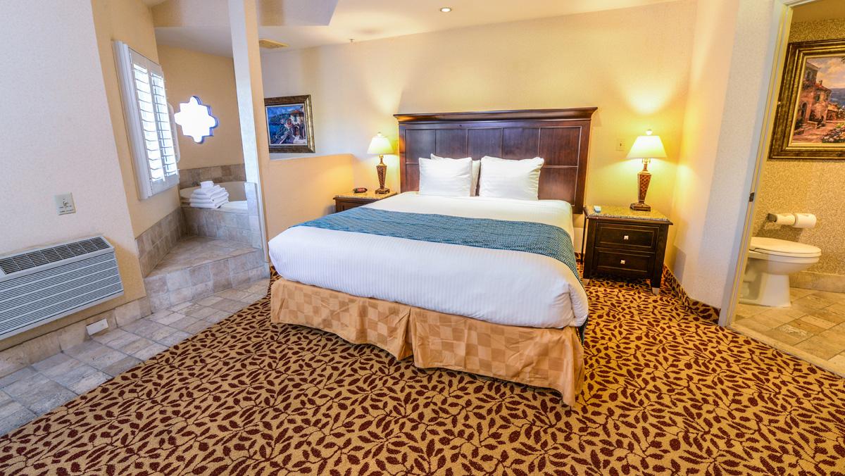 Interior do quarto no laguna brisas hotel