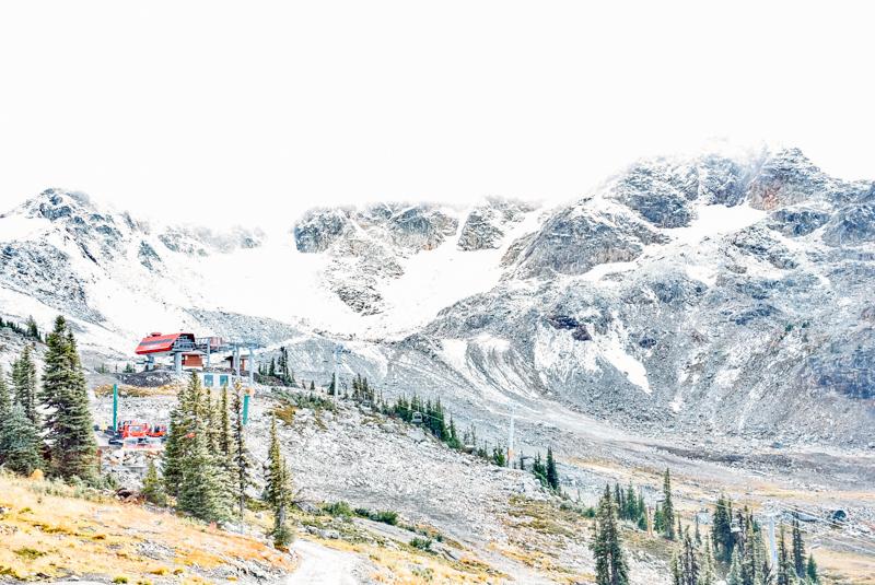 Cadeia montanhosa de Whistler, no Canadá