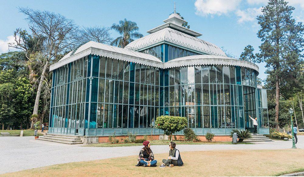 Palácio de Cristal de Petrópolis visto do lado de fora