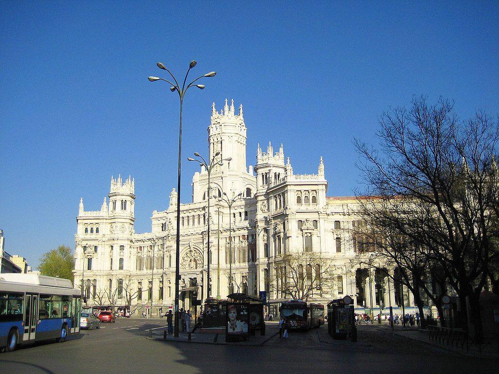 Fachada do Palácio Cibeles em Madrid