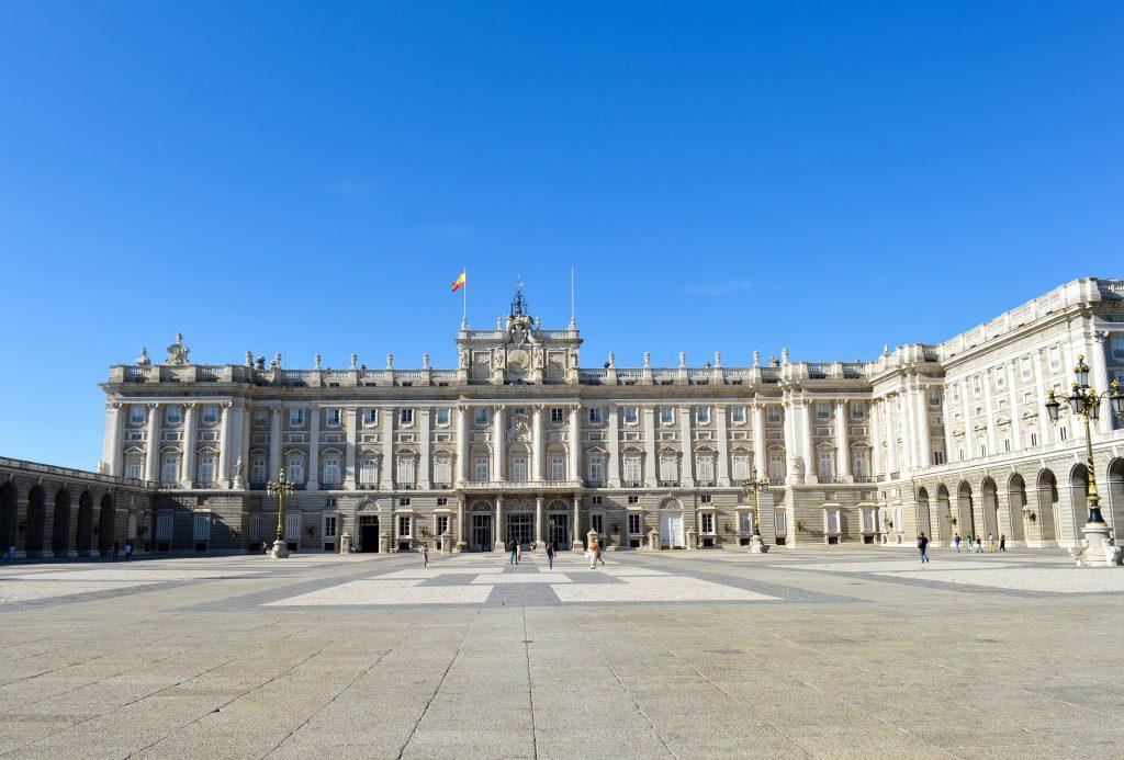 Fachada do Palácio Real em Madrid
