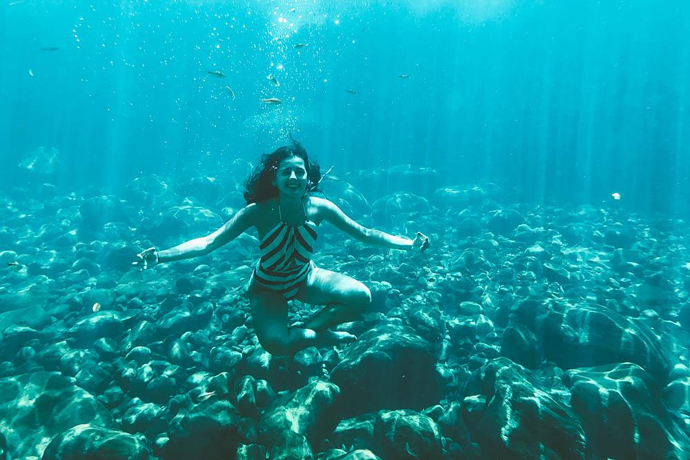 poço azul e encanto azul mergulho