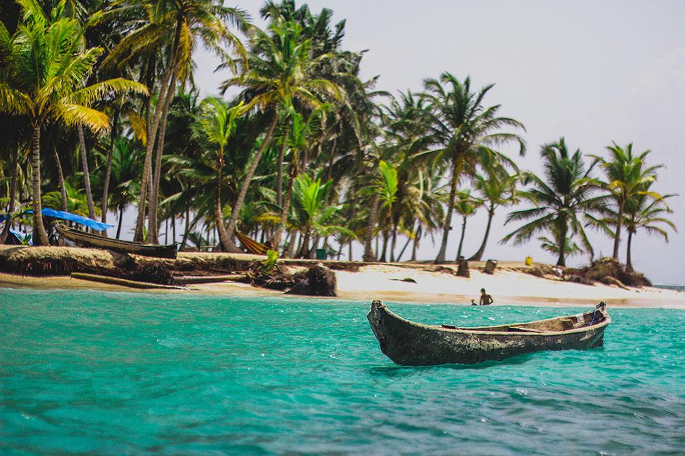 ilha de San Blas no Panama