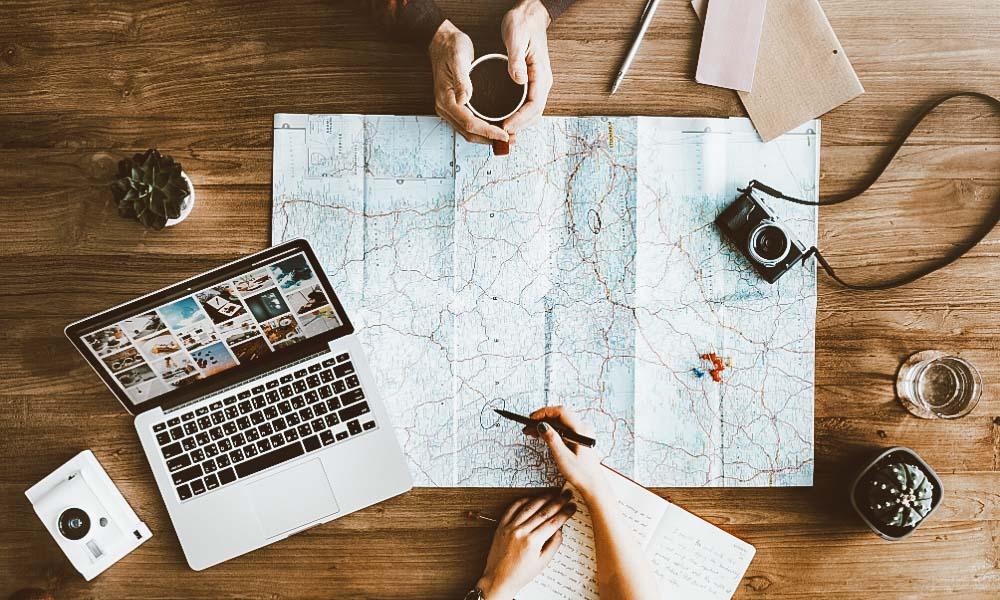 dicas para juntar dinheiro para viajar mapa