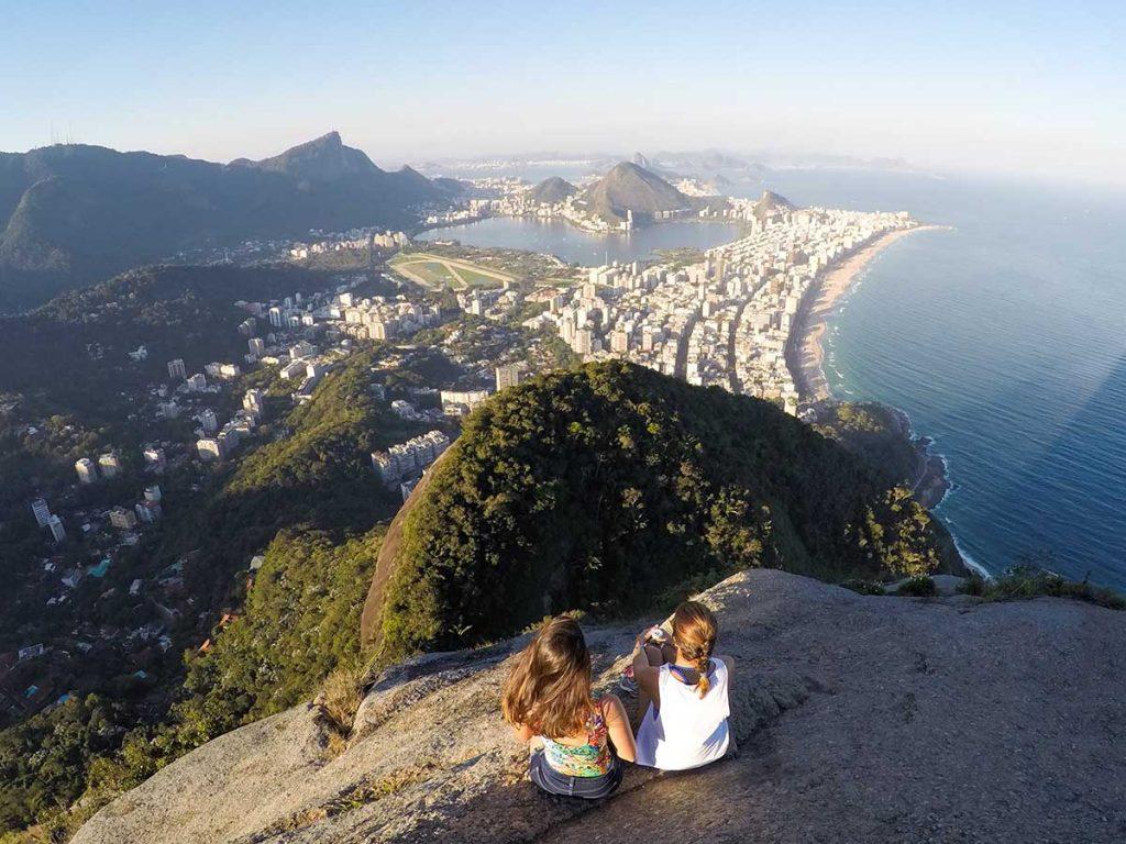 Vista do alto do Morro Dois Irmãos