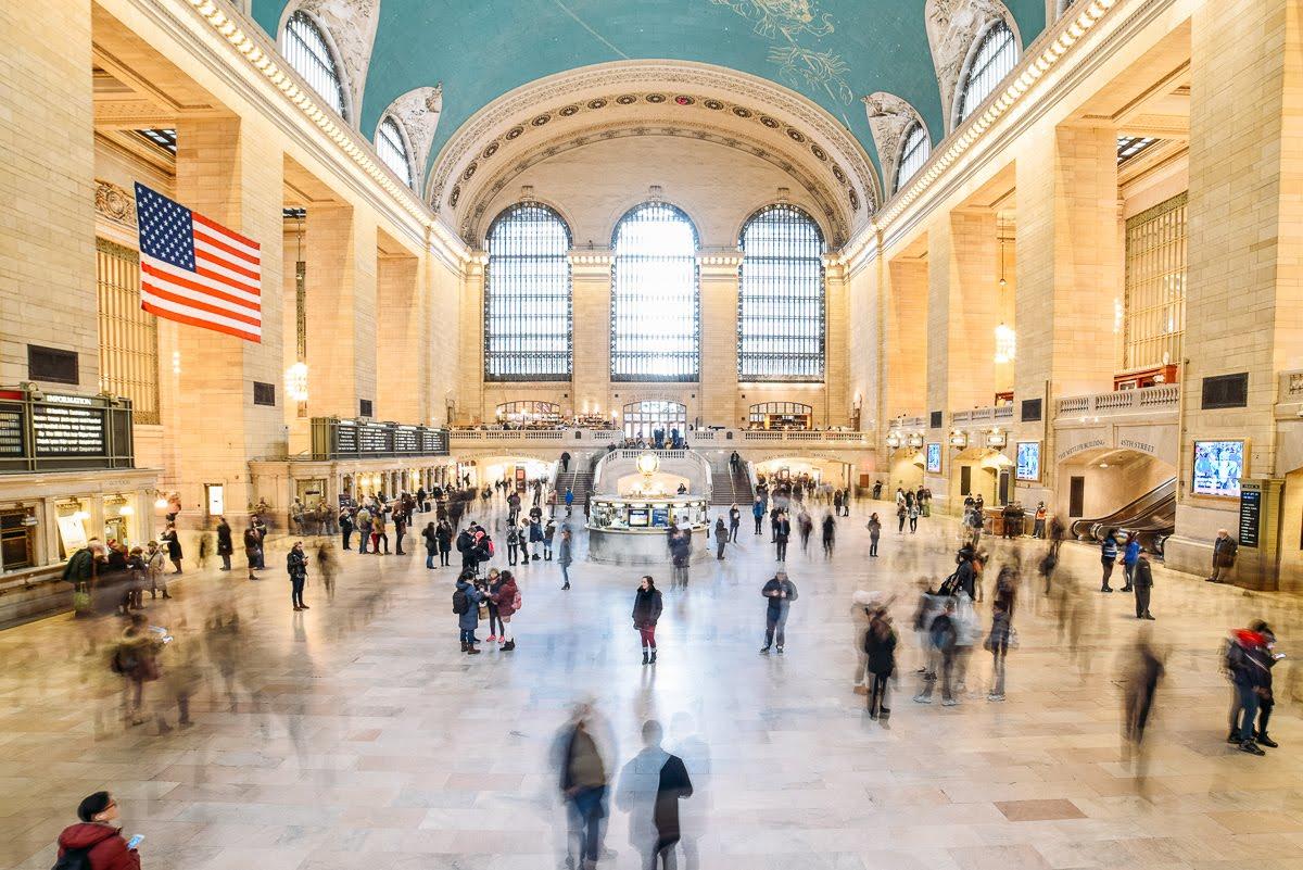 Movimento de pessoas na Grand Central Station