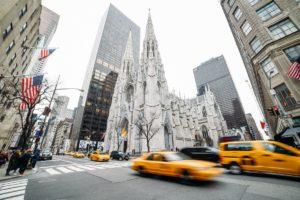 Táxis na rua em Nova York