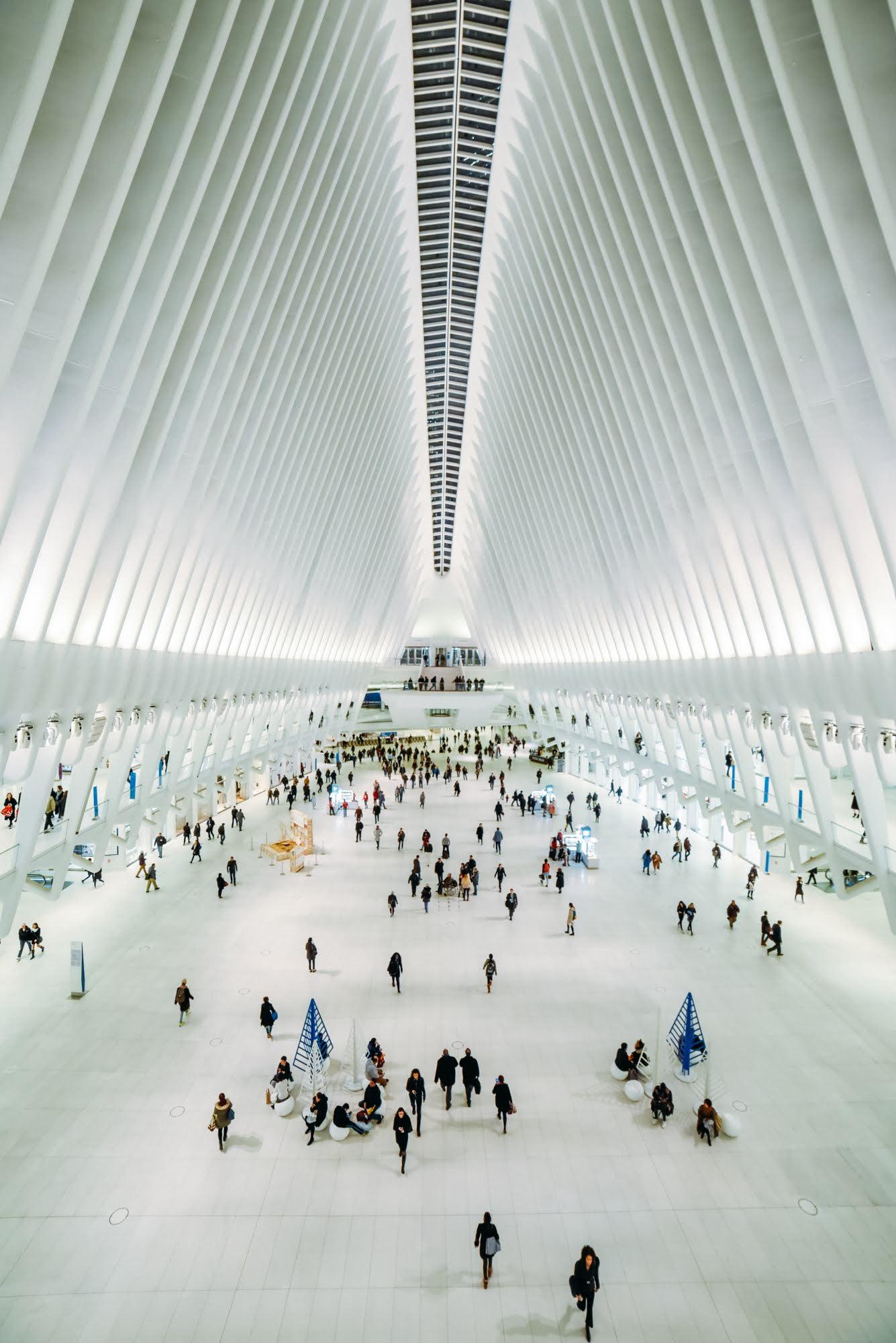Interior da estação Oculus em Nova York
