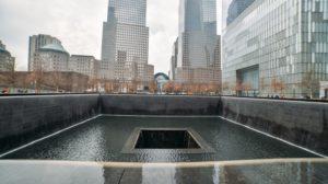 Vista do Memorial do 11 de setembro em Nova York