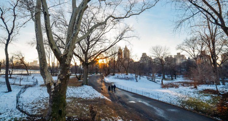 Nova York coberta de neve