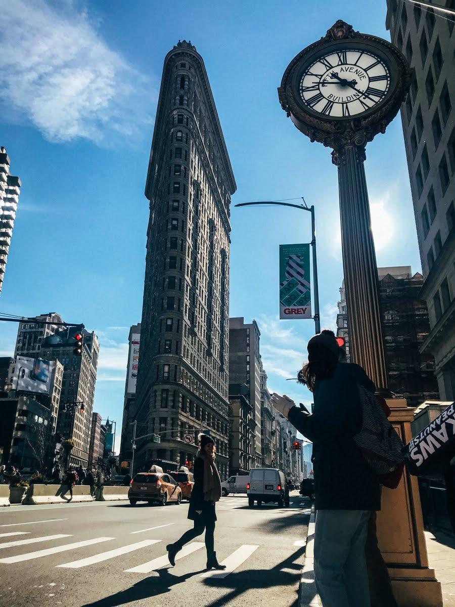 Fachada do Flatiron Building em Nova York
