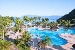Vista da piscina do Vila Galé Eco Resort