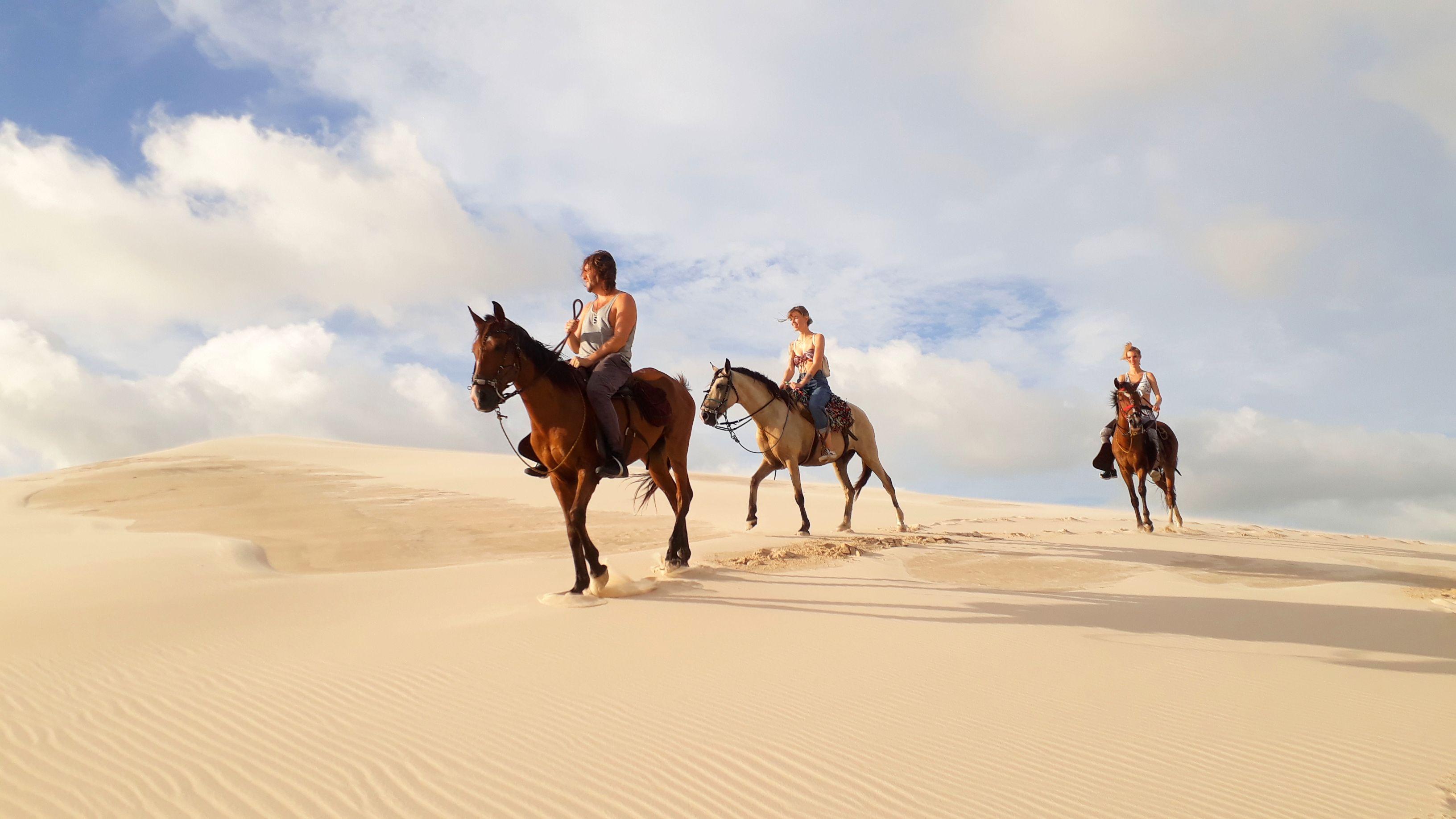 passeio à cavalo em Atins
