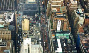 Vista aérea do prédio da Macy's em Nova York