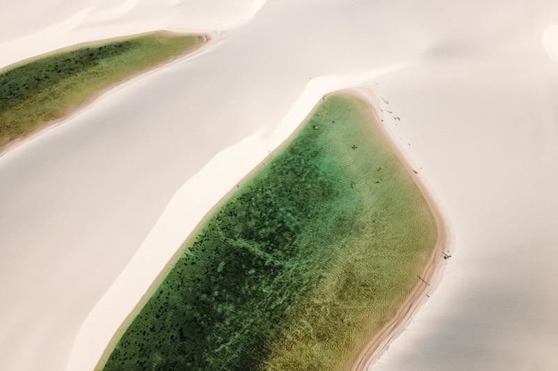 foto aérea dos lençois maranhenses