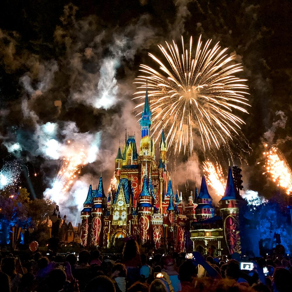 show de fogos no Magic Kingdom