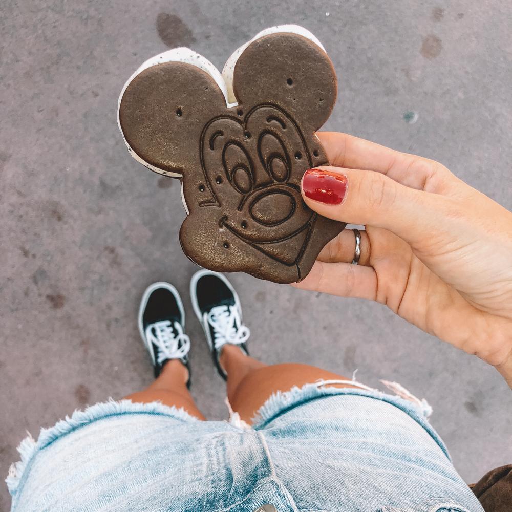 Sorvete do Mickey em Orlando