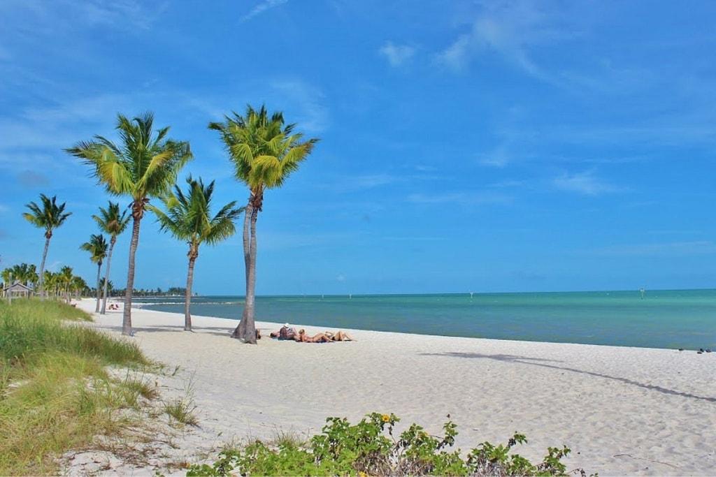 Areias da praia de Key West