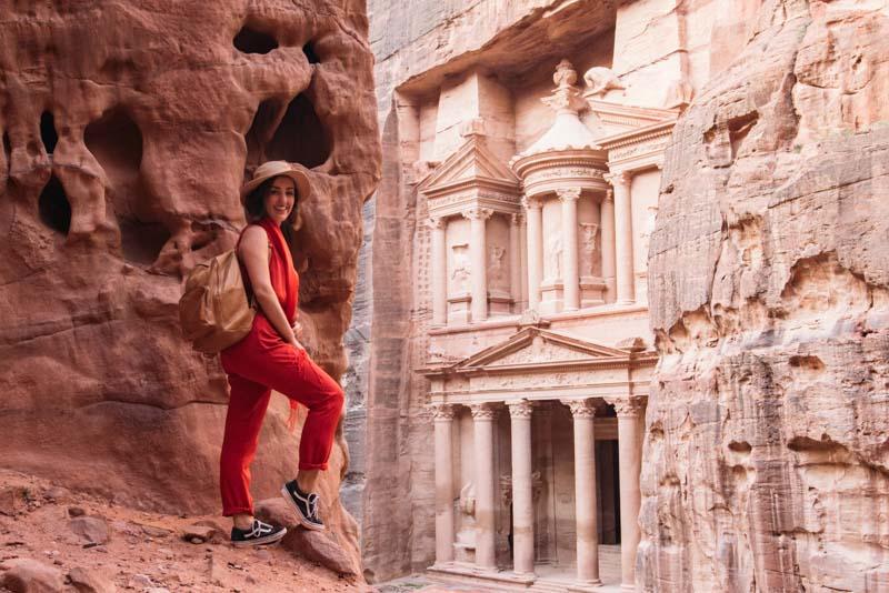 O Tesouro de Petra, na Jordânia