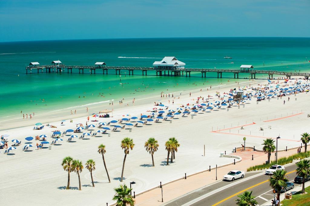 Praia de Clearwater na Florida