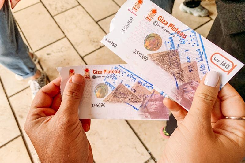ticket de visitação pirâmides do egito