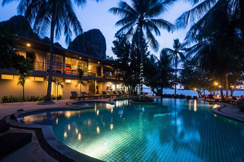 onde se hospedar em railay beach Sand Sea Resort
