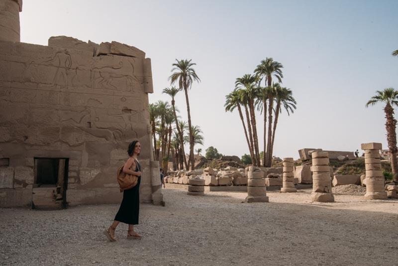 ruínas dos templos Karnak em Luxor no Egito