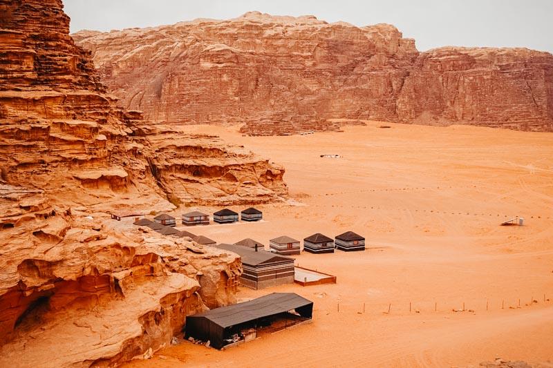 Camping em Wadi Rum na Jordânia