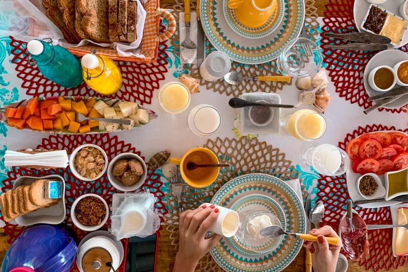 café da manhã casa bobô