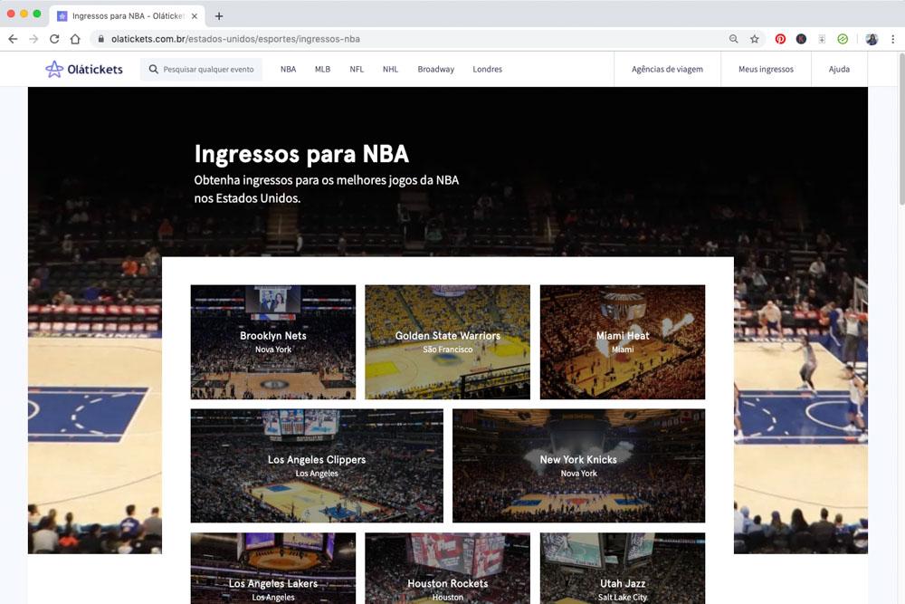 ingressos NBA nova york