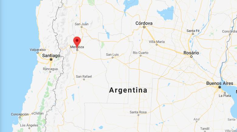 onde fica mendoza argentina